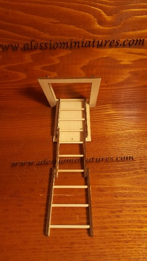 1//12 scale Stairs Made in USA #2299T FOLDING ATTIC STAIRS